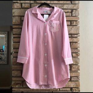 Other - NWT pink seersucker nightshirt with CSM monogram